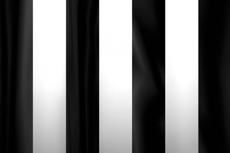 葬式で使用される白黒の幕