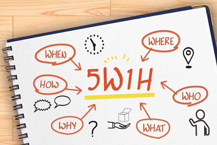 5W1Hを使い上手に質問する