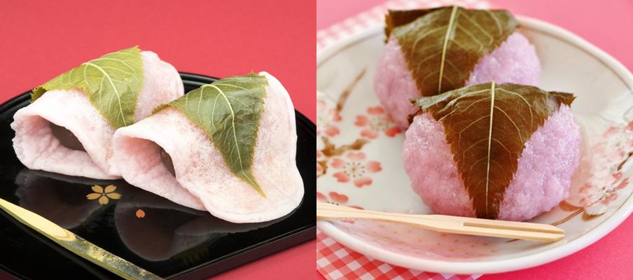 関東と関西では桜餅が違う