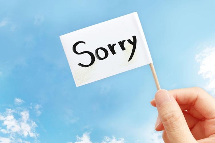 謝罪の言葉から先に述べる