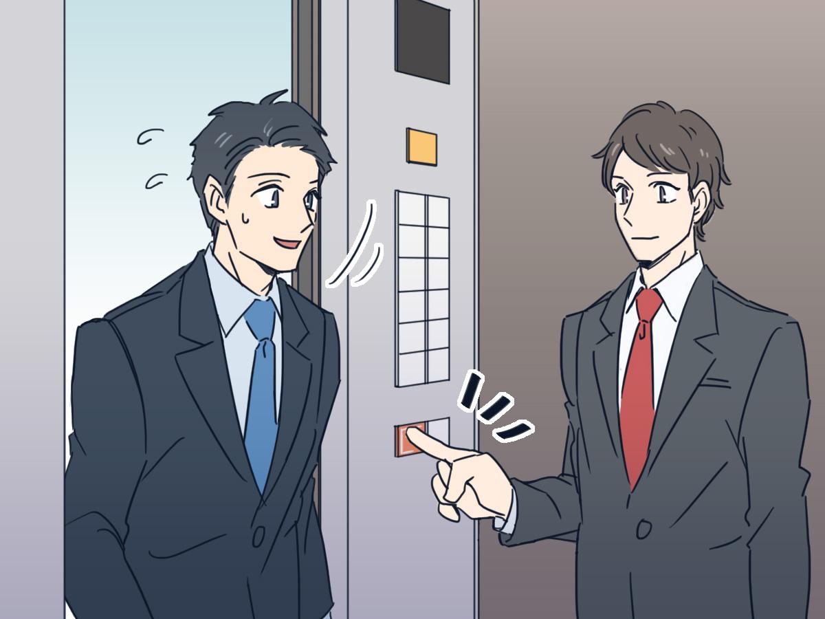 エレベーターが閉まらないようにする