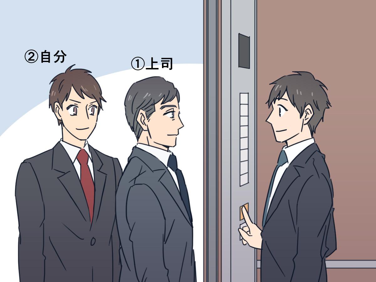 すでにエレベーターに他の方が乗っている場合
