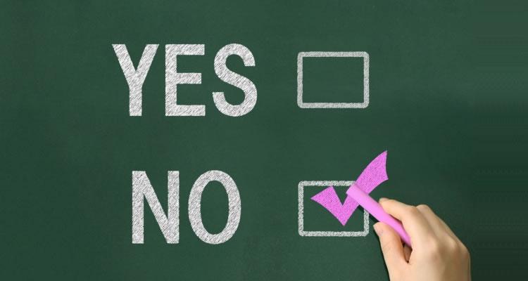YES・NOの選択をさせない
