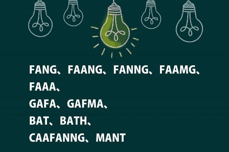 FANG、FAANG、FANNG、FAAMG、FAAA、GAFA、GAFMA、BAT、BATH、CAAFANNG、MANT意味と読み方