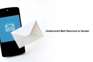 「Undelivered Mail Returned to Sender」の意味とは