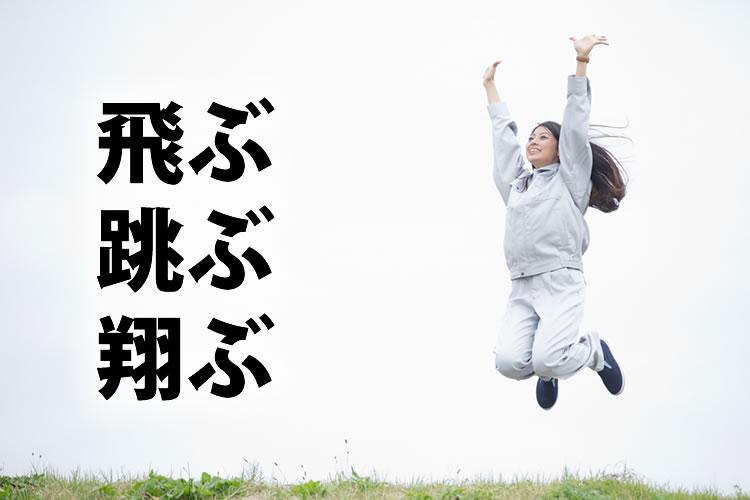 「飛ぶ」「跳ぶ」「翔ぶ」の意味と違い
