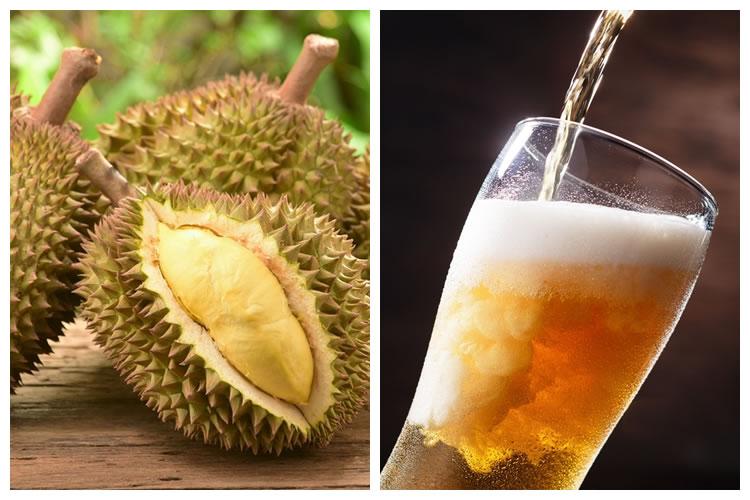 ドリアン+ビール