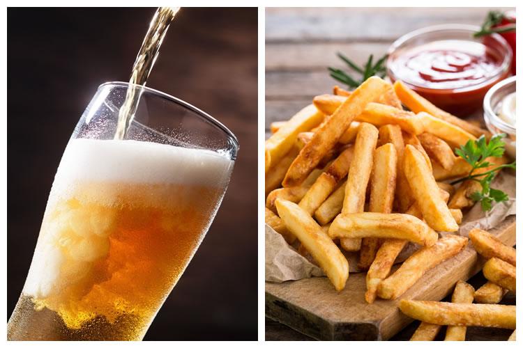 ビール+フライドポテト