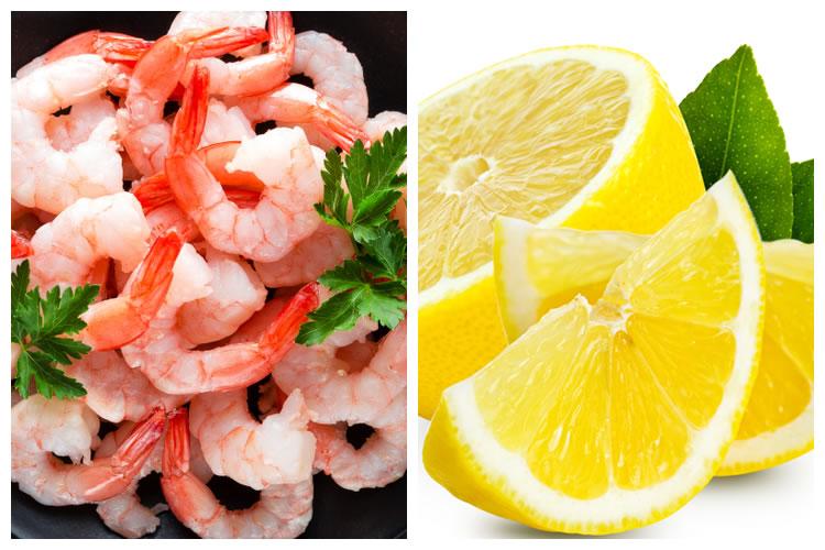 エビ+レモン