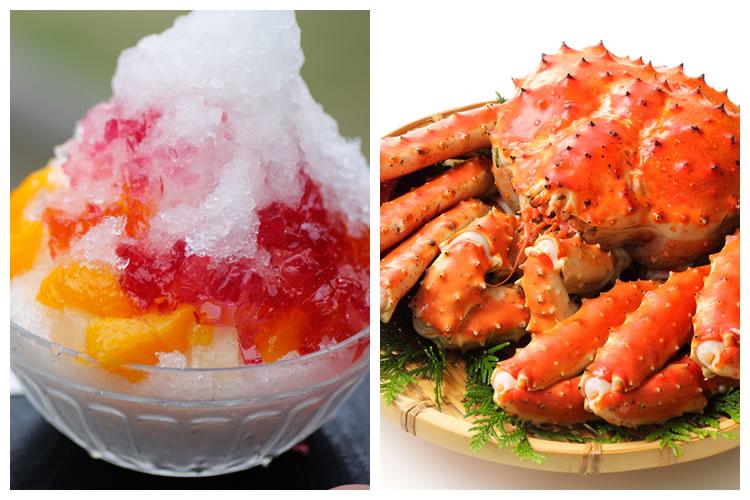 カキ氷+蟹