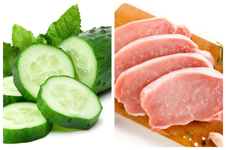 きゅうり+豚肉