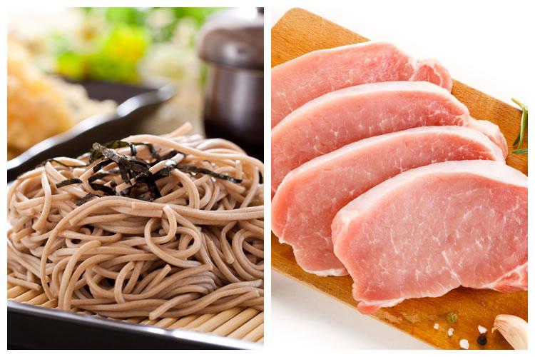 蕎麦+豚肉