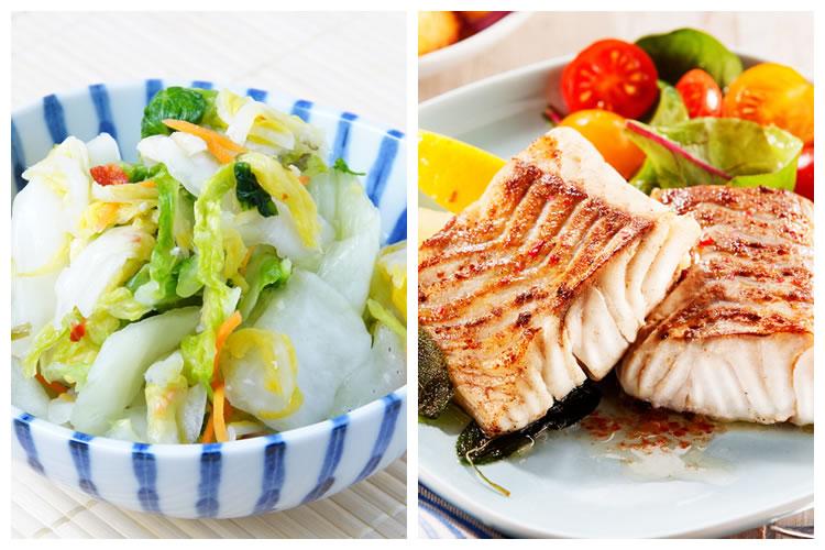 漬物+焼き魚