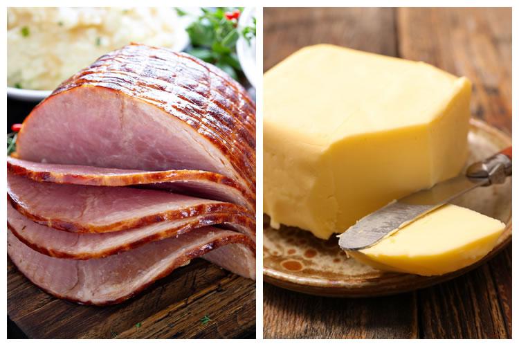 ハム+バター
