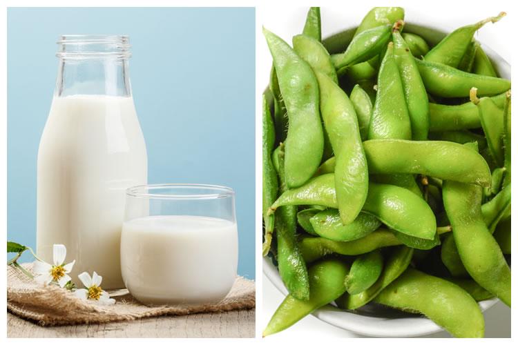 牛乳+枝豆