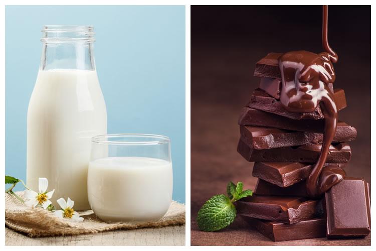 牛乳+チョコレート