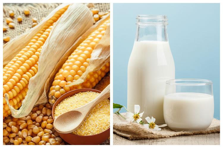 トウモロコシ+牛乳