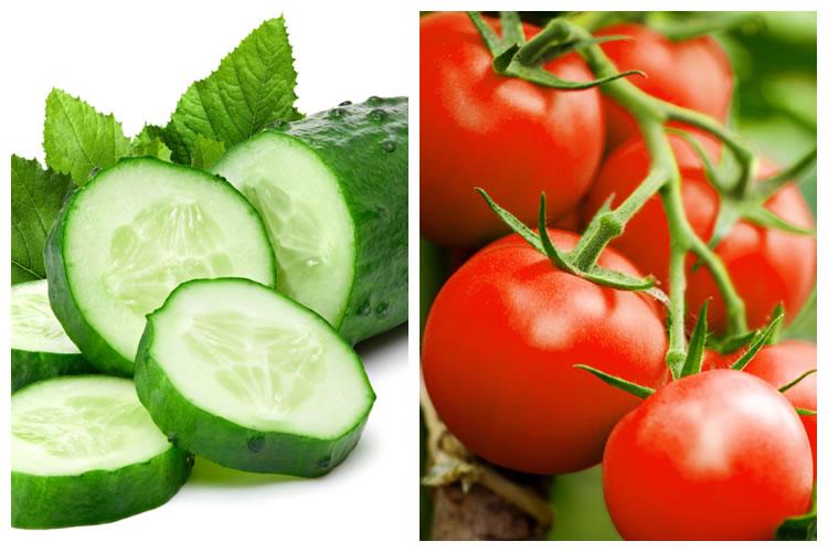 きゅうり+トマト