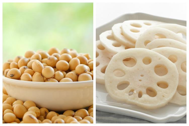 大豆+レンコン