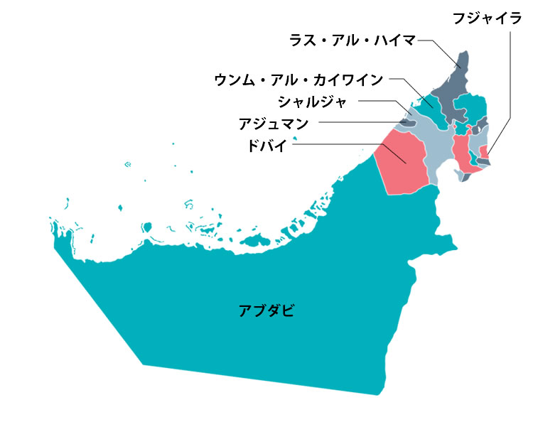 UAE(アラブ首長国連邦)の定義とは?UAEを構成する7つの国