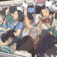 通勤電車で座るための方法