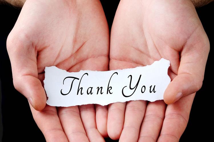 感謝の意を伝える