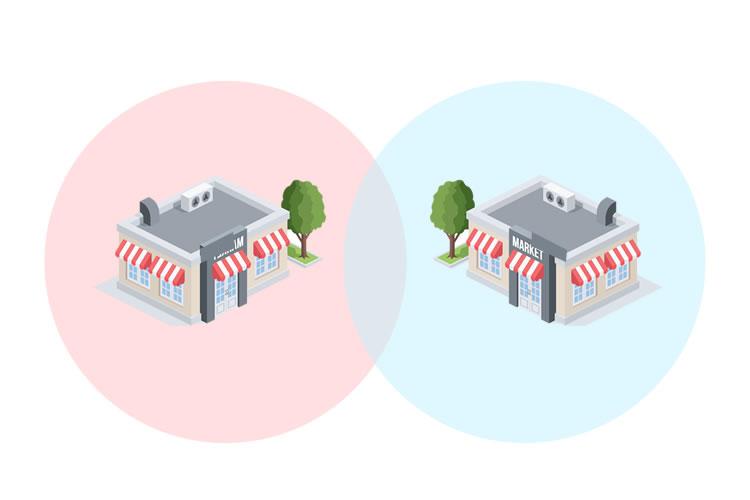「商圏」の意味とは?使い方や例文・「1次、2次、3次商圏」とは