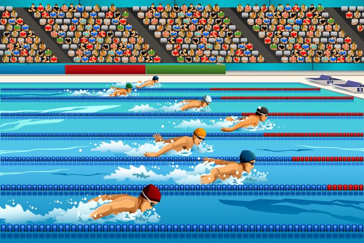 「水泳」「競泳」の意味と違い