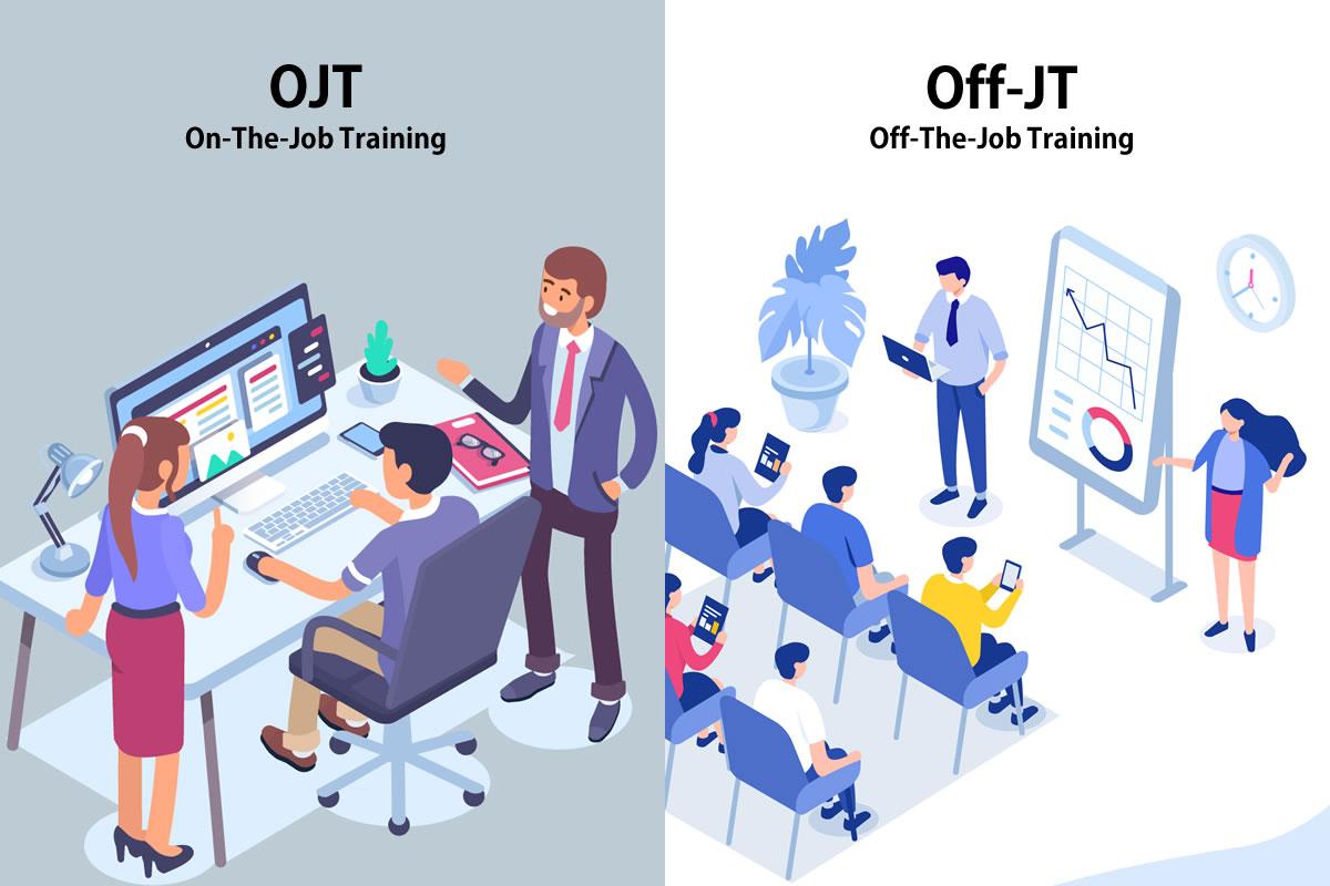 「OJT」と「Off-JT」の意味とは?使い方や例文